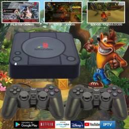 Video Game Retro PlayStation Com 8500 Jogos + 2 Controles