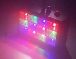 Iluminação Festa 12 Leds RGB Rítmico 15w