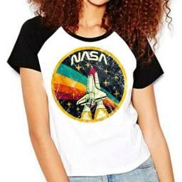 Camisa Geek NASA, mangas pretas em Teresina Piauí