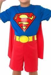 Fantasia Super Homem Meninos Infantil 06 a 08 anos