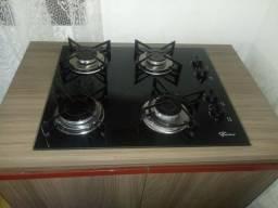 Balcão com cooktop Fischer 4 bocas