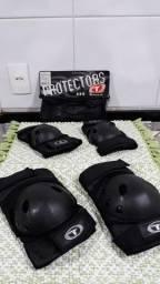 Conjunto de protetores para joelho e cotovelo, tamanho G