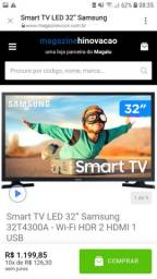 "Smart tv led 32"" Samsung."