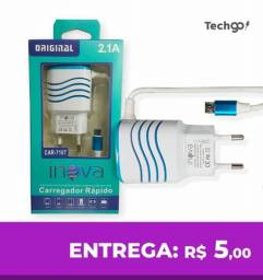 Carregador de Celular Micro USB Turbo 2.1a 1 Saídas Usb Inova CAR7107