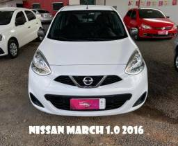 Nissan march 1.0 2016, Financiamos até 60x - 2016