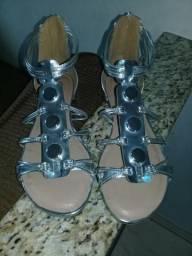 Sandália Prata tamanho 39