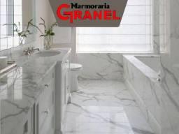 Banheiro Revestido em Mármore Calacata!