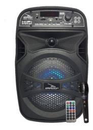 Caixa De Som Lead Bluetooth Rádio Amplificada Portátil Gras