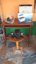 Vendo Impressora, Mesa, Estabilizador, Caixa de Som, Antena Internet via Rádio