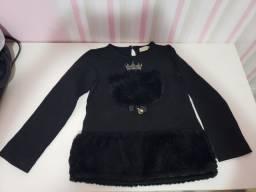 Blusa de frio preta infantil
