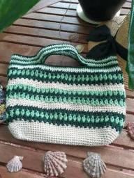Bolsa de praia Parati em crochê