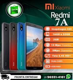Celular Redmi 7A 16/2GB preto -(Novo c/ Nota Garantia) Pronta entrega!