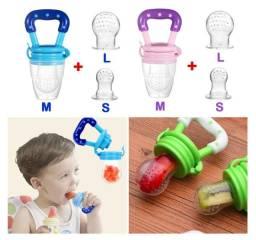 3pcs Chupeta Porta Frutinhas E Legumes Alimentadora P/ Bebê