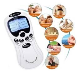 Massageador digital com eletroestimulação tens portátil