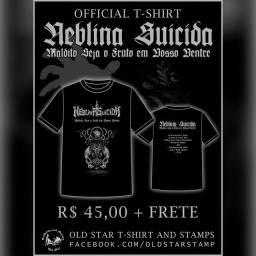 Título do anúncio: NEBLINA SUICIDA, Camiseta Oficial da Banda Nacional de Black Metal