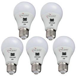 Lâmpada Led para Ligar em Bateria 12 Volts ou 24 Volts 9W Luz Branca Kit 5un
