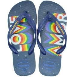 Chinelo Havaianas Top Pride Arco Íris Orgulho Lgbt Sandálias Love