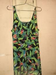 Vestido longo florido da Fissura