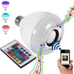 Lampada Led Musical Caixa De Som Bluetooth