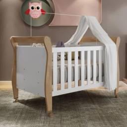 Berço Minicama Slim Tigus Baby Branco/Naturale CestaPlus