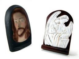 Jesus E Anjo Velando Sono - 2 Peças