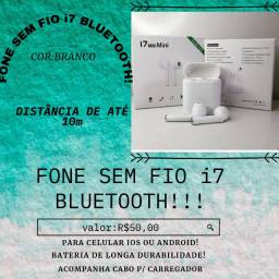 Fone Branco i7 Mini Bluetooth