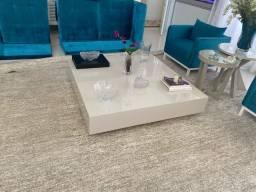 mesa central luxo laca brilhante parcelo em até 10x