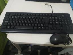Mouse Lite Séries, Teclado MTek e monitor LG flatron