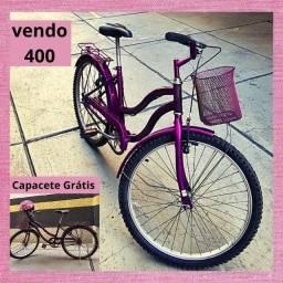 Vendo Bicicleta aro 24 semi nova 400
