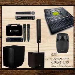 Áudio/som/comércio/igreja