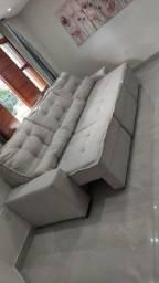 Sofá retrátil e reclinável . Fabricação por encomenda e sob medida.