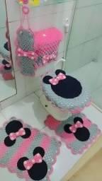 Kit de banheiro Minnie Rosa
