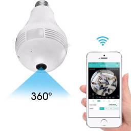 Título do anúncio: Lâmpada Espiã Câmera Visão Noturna Ip Led Wifi Hd Panorâmica