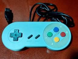 Controle de Super Nintendo USB