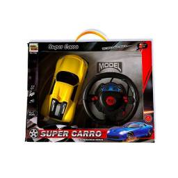 Carro com volante controle remoto