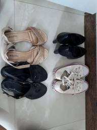 4 pares de sapatos