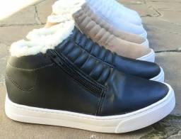 Tênis bota de Inverno com lã