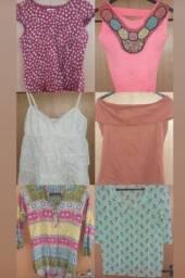 Lote de roupas femininas P/M