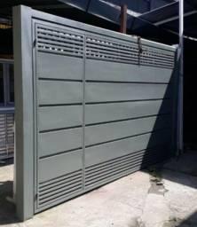Portão Basculante Galvanizado 3.00x2.50
