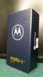Smartphone Moto E7 Plus 64GB Dual Chip Android 10 Tela 6.5 4G Câmera 48 MP - Azul