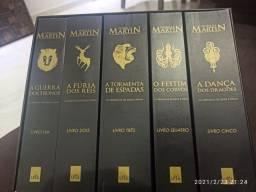 "Box de livros Game of thrones "" As crônicas de gelo e fogo"""
