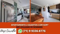 Bosque Patamares - Apartamento impecável 2 quartos, sendo uma suíte em 65m²  - (R2)