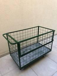 Carrinho Tela/Chapa 1,20x0,65x0,70 cap carga 500 kgs