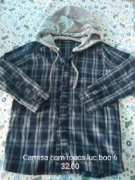 Camisas manga longa tamanho 6