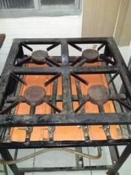Fogão industrial 4 bocas sem forno