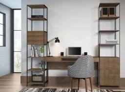Pronta Entrega: Home Office com Escrivaninha+2 Estantes, R$3.616,20!