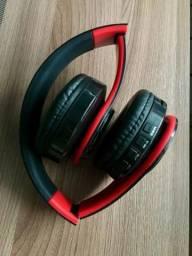 Fone de ouvido bluetooth entrada para cartão e cabo auxiliar produto novo