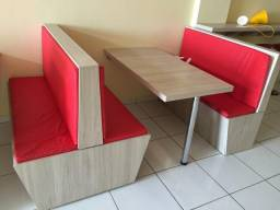Banco Booths P/ Restaurante Lanchonete Sorveteria Bar Etc