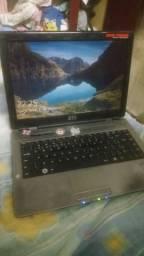 Notebook dual core 2.30ghz 4gb hd de 500gb bateria boa