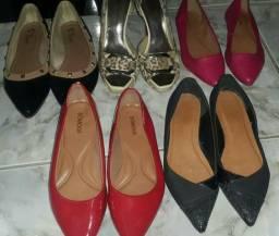 Lote com 5 pares de calçados n°37